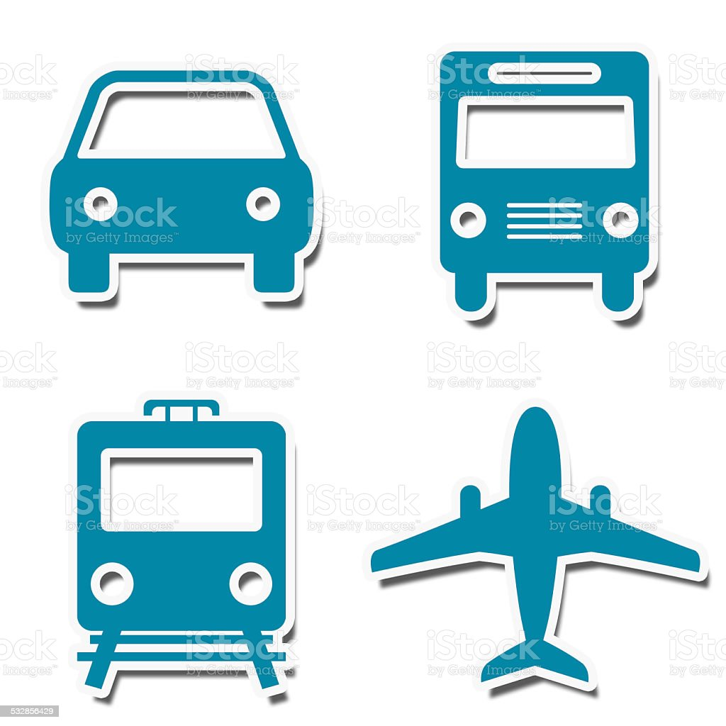 Travel Icons Stickers stock photo