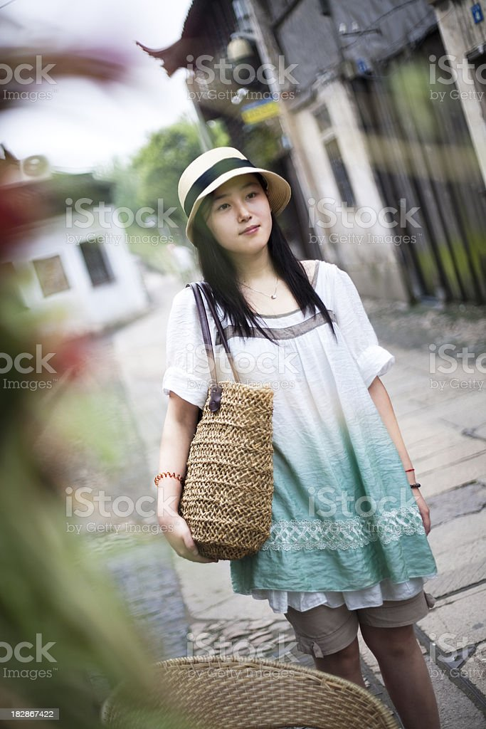 Travel in a old chinese town royalty-free stock photo