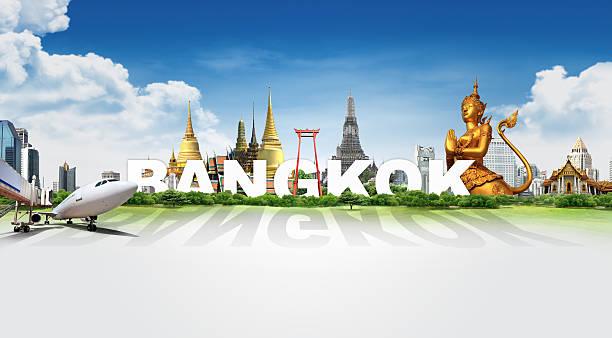 Reisen in Bangkok, Konzept panorama-Landschaft – Foto