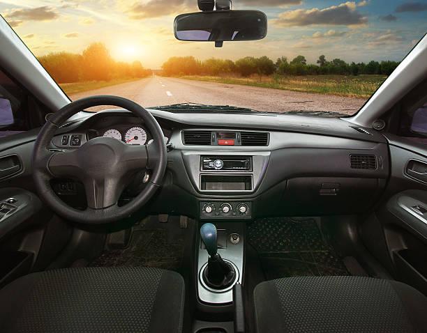 Travel in car. stock photo