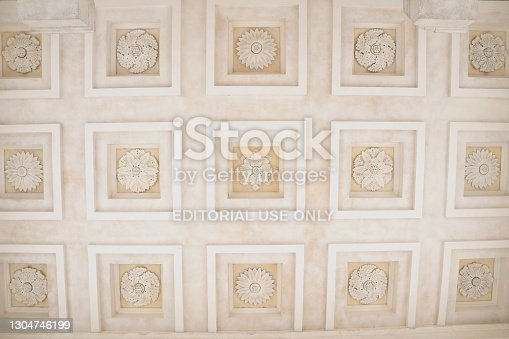 Ceiling ornaments, The Maison Carree in Nimes, France.
