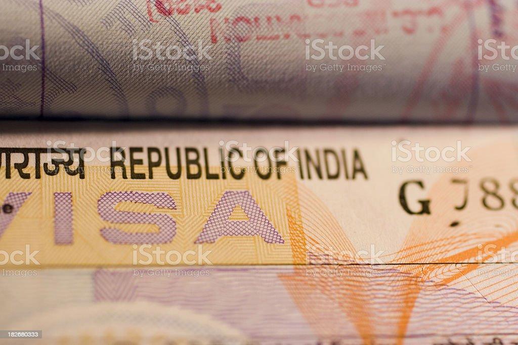 Travel: India Visa stock photo
