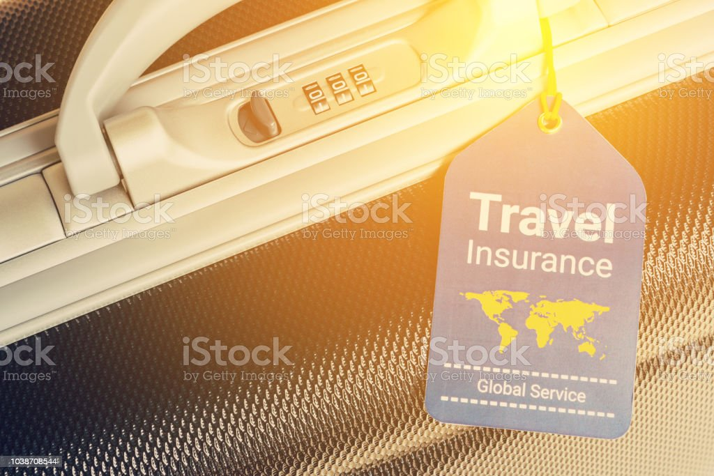 Travel Insurance Label Is Put Near A Numeric Combination ...