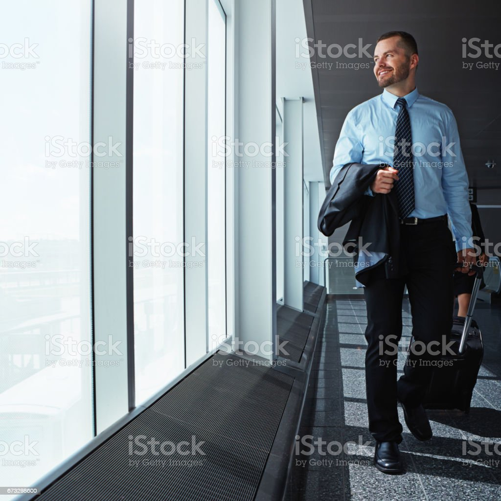 Travel is his occupational perk royalty-free stock photo