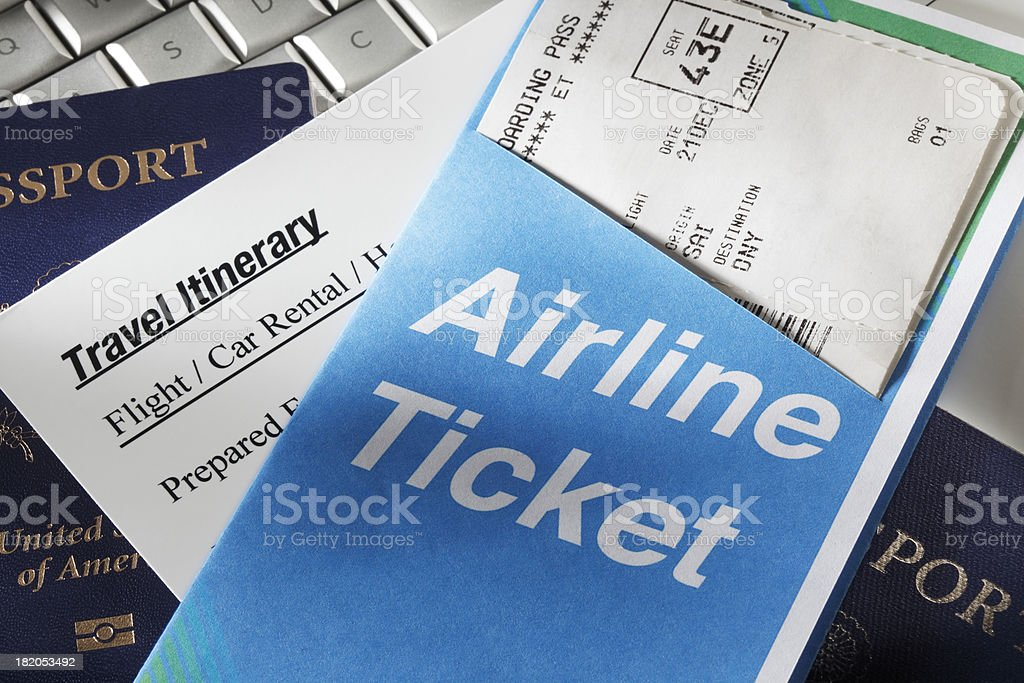 Travel Itinerary stock photo