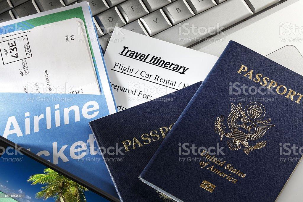 Travel Itinerary royalty-free stock photo