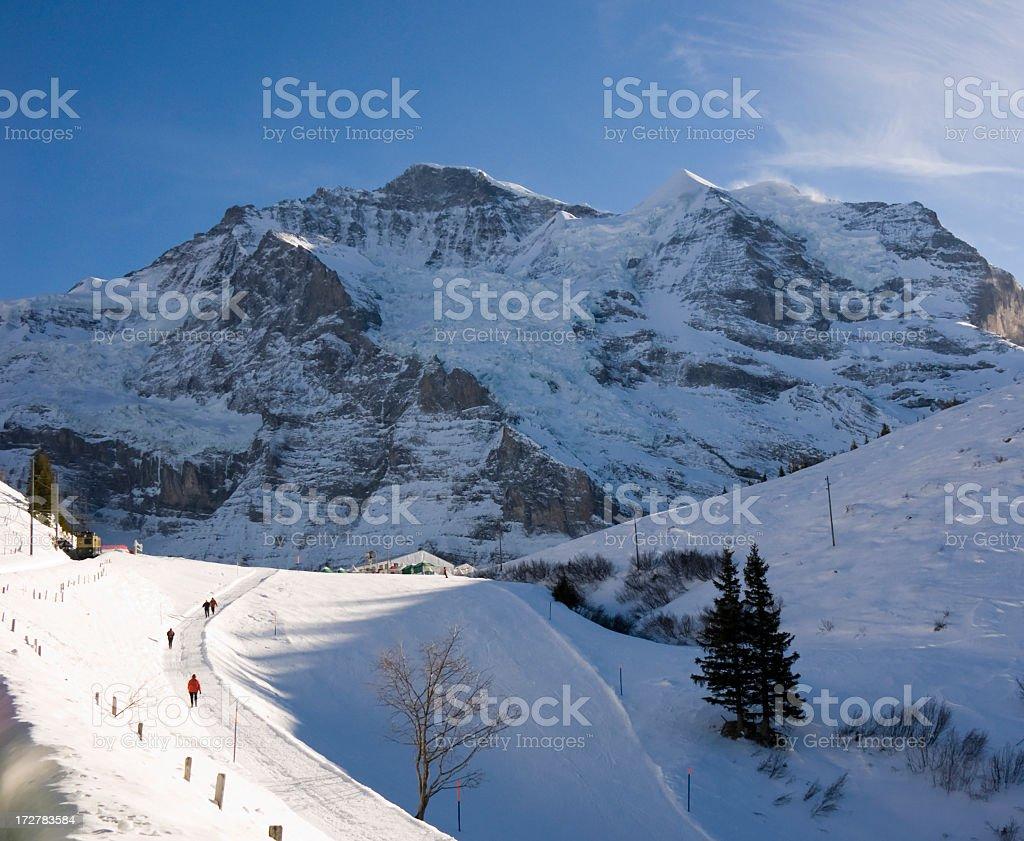 Travel; Jungfrau and Sliberhorn royalty-free stock photo