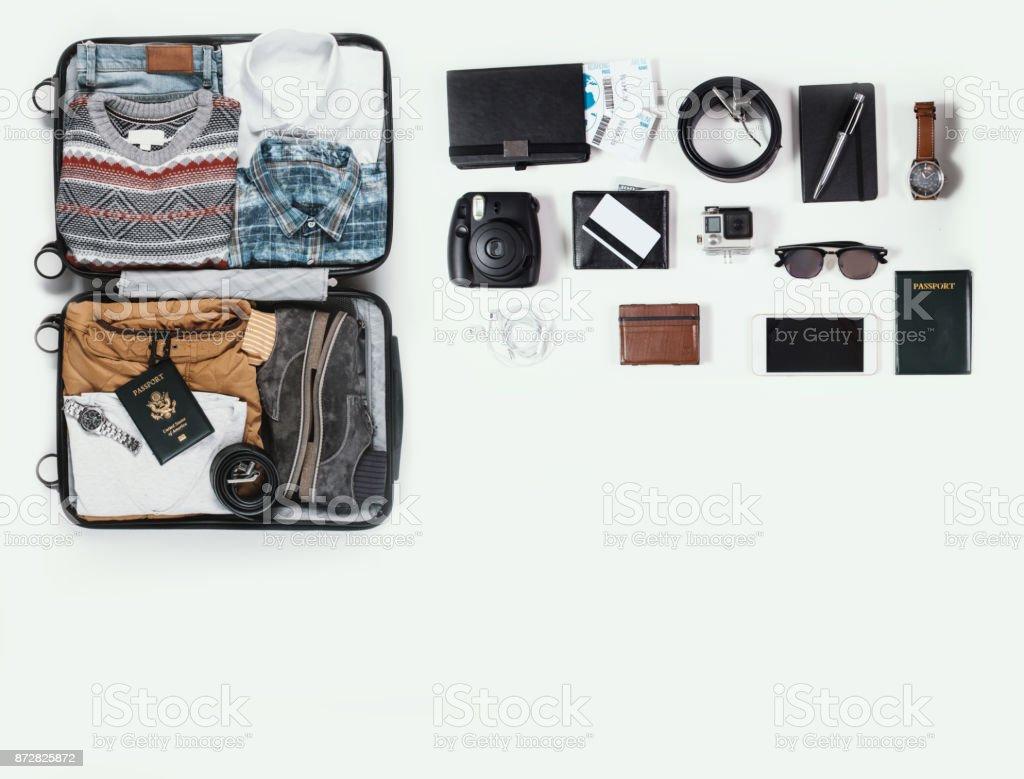 kit de viaje - foto de stock