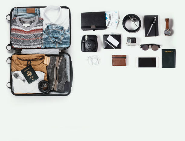 travel kit - man made object stock photos and pictures