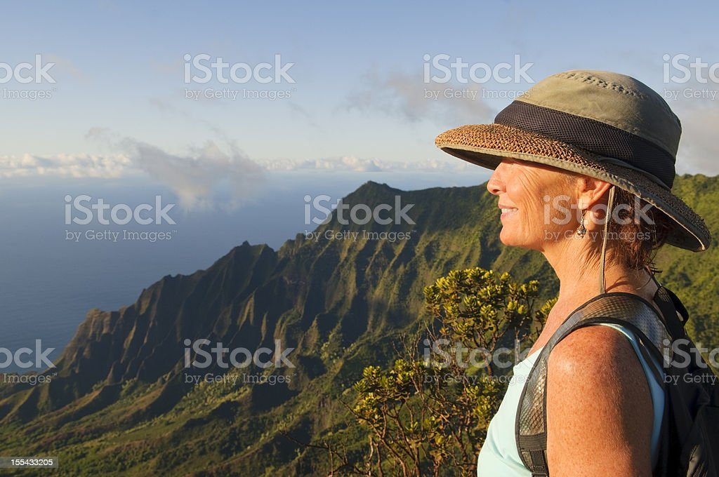 Travel lifestyle and dramatic landscape royalty-free stock photo