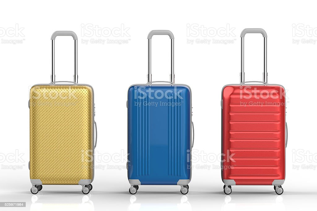 travel luggages stock photo