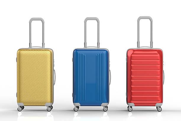 travel luggages stock photo