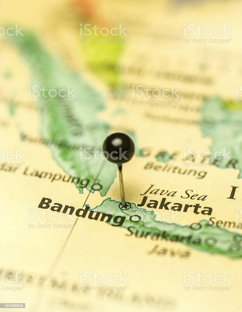 Travel Map Macro Of Jakarta Bandung Java Stock Photo & More Pictures ...