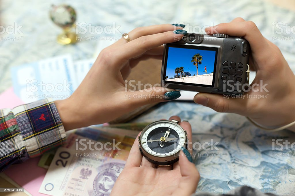 Travel Memories and Dreams Mood Composition stock photo