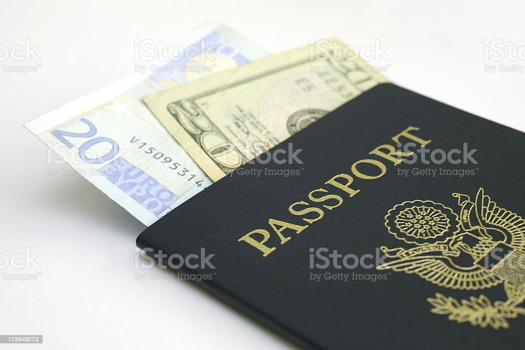 Travel Money stock photo