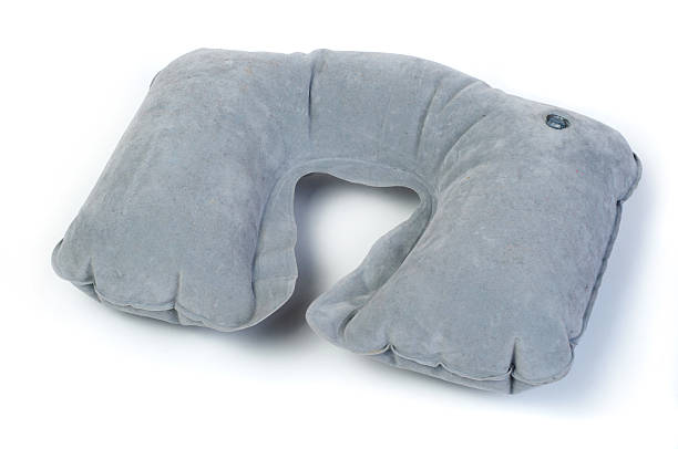 Travel neck pillow stock photo