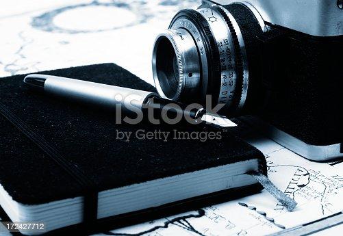 609706398 istock photo Travel notes and camera 172427712