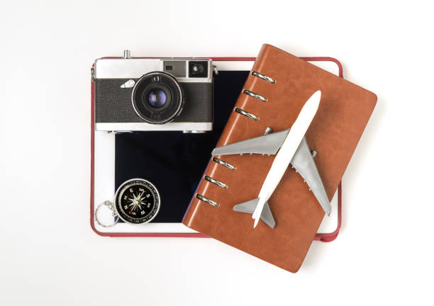 Travel objects and travel accessories for travel cocnept on white picture id859371934?b=1&k=6&m=859371934&s=612x612&w=0&h=gbxrmkqgp9kscqfct rl994epomi3apqp 8rpinkd8u=