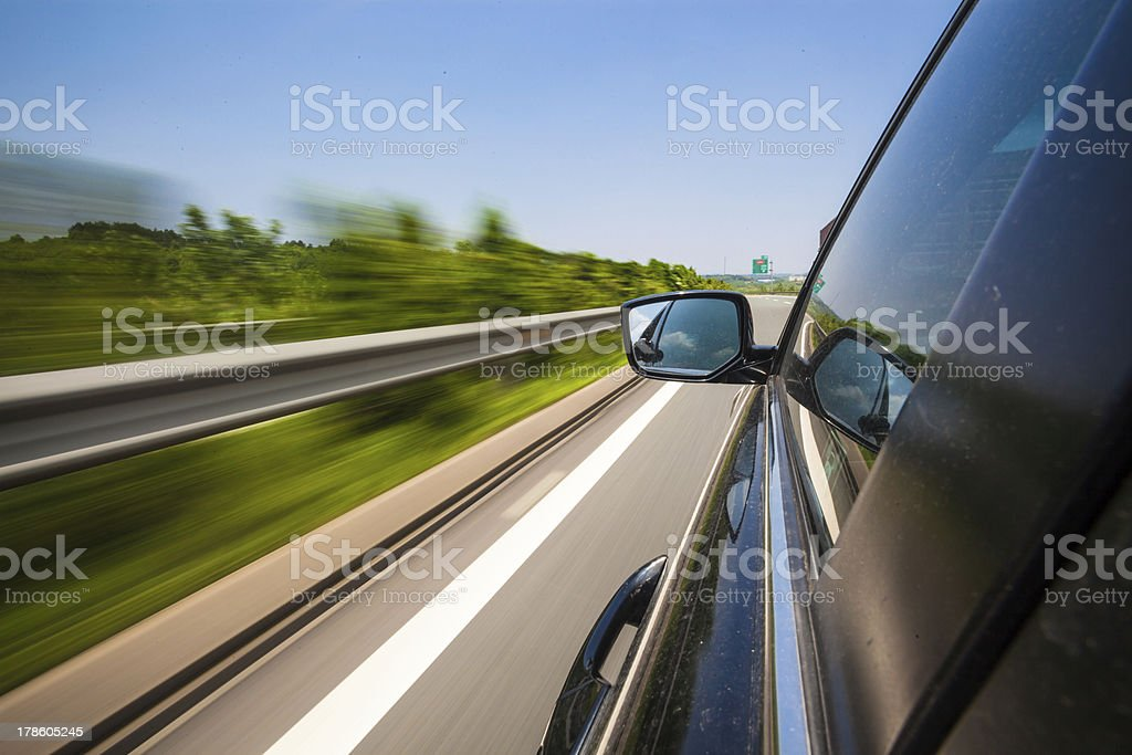 travel on highway royalty-free stock photo