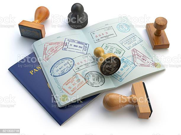 Travel or turism concept opened passport with visa stamps picture id521303718?b=1&k=6&m=521303718&s=612x612&h= o3svxw8izgctwbragns5vtwociqvxnzm0bopbmtmtw=