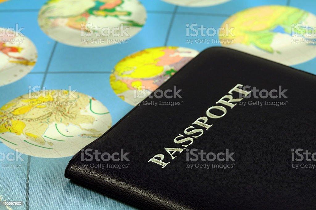 Travel passport royalty-free stock photo