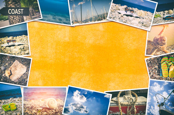 travel photo collage - image montage stock pictures, royalty-free photos & images