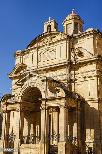 istock Travel photo of St. Catherine of Italy Church in Valletta, Malta. 983324712