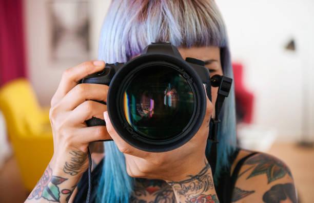 Travel Photographer in London stock photo