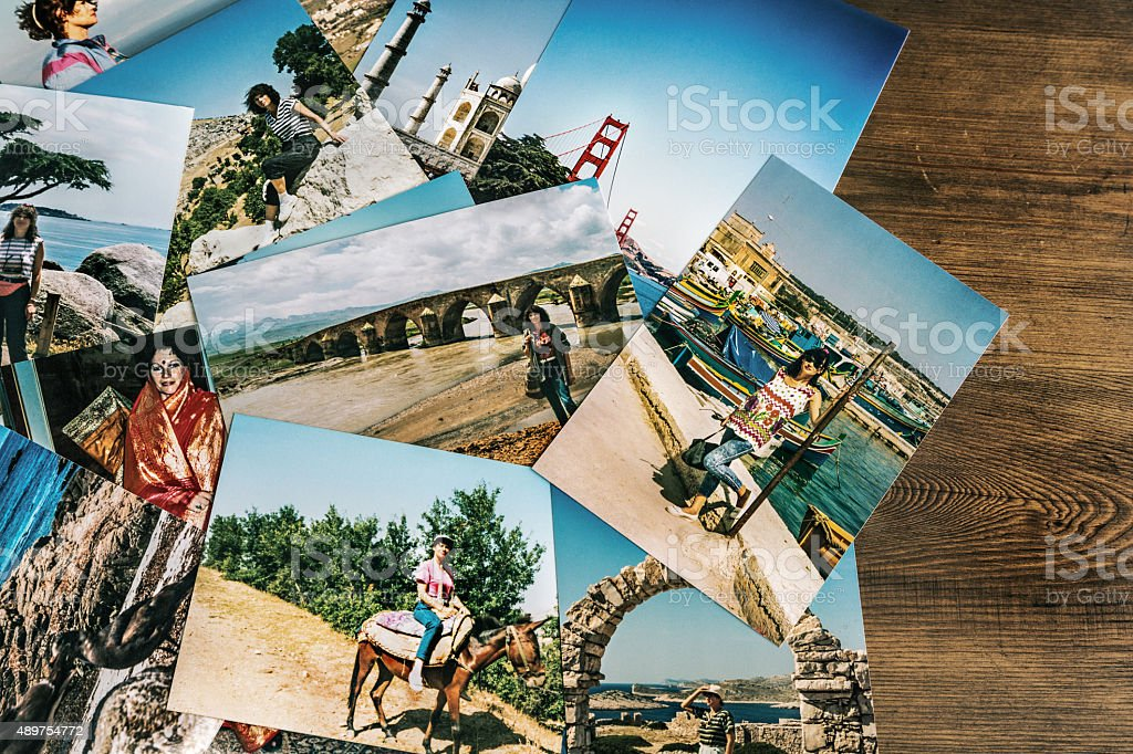 Travel photos of a young girl stock photo