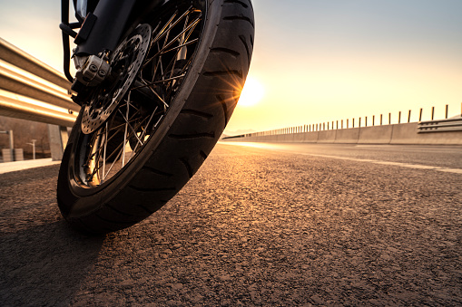Motorbike travel, on the road