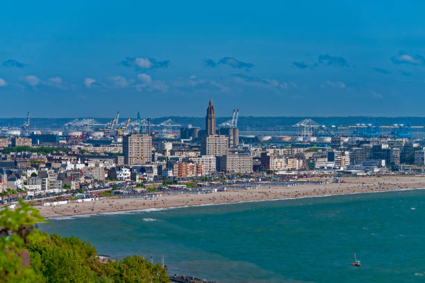 Travel Blick auf Le Havre. Normandie. Frankreich le havre stock pictures, royalty-free photos & images