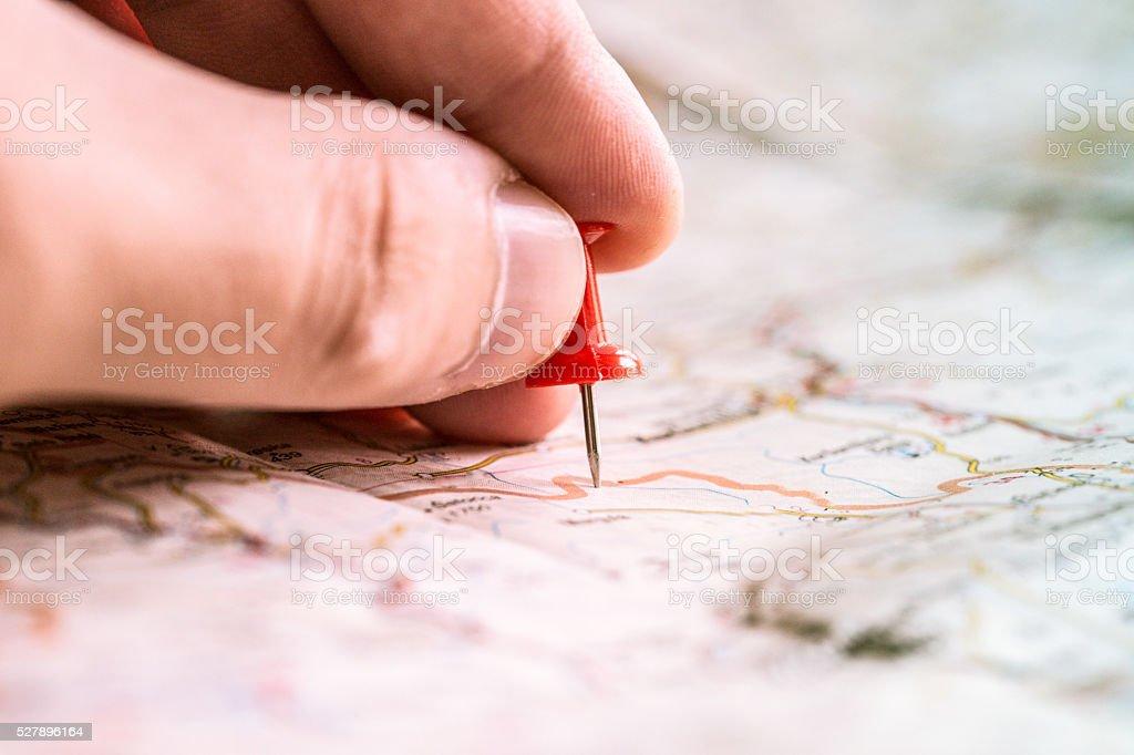 Travel planing stock photo