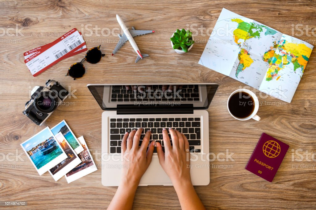 Travel planning royalty-free stock photo