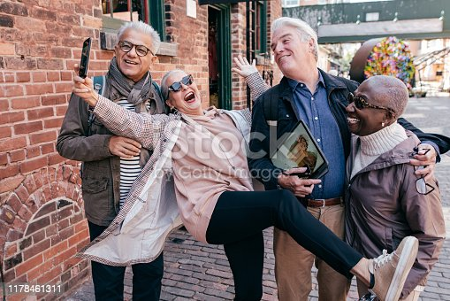 Group of seniors travelling  together