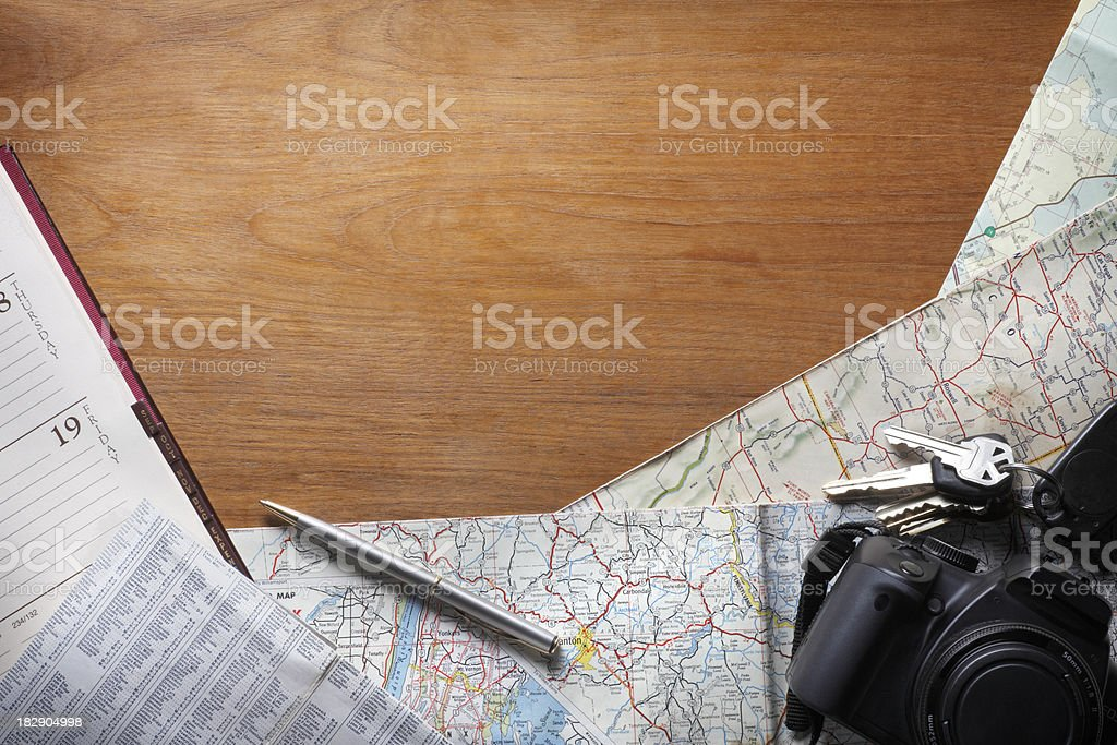 Travel Plans royalty-free stock photo