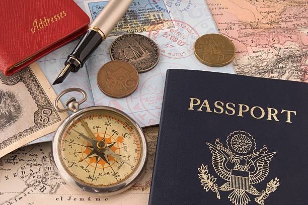 Travel Related Items stock photo