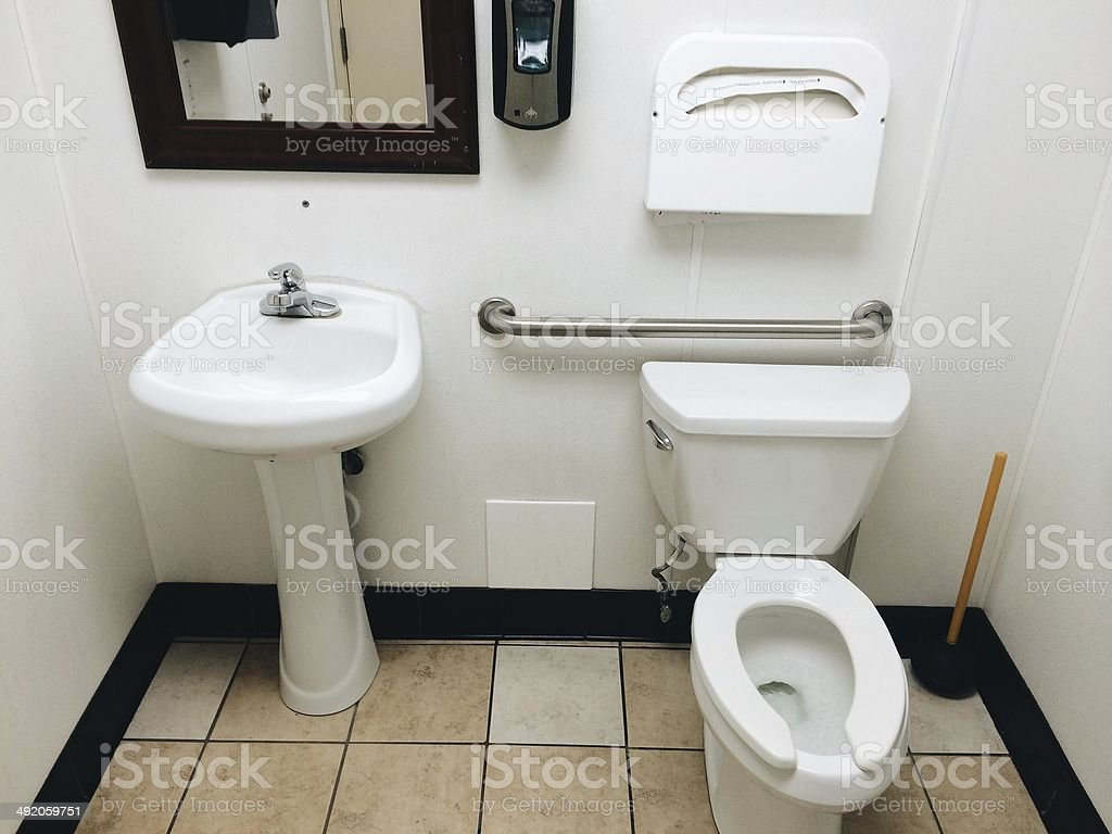 Travel Rest Stop Bath Room royalty-free stock photo