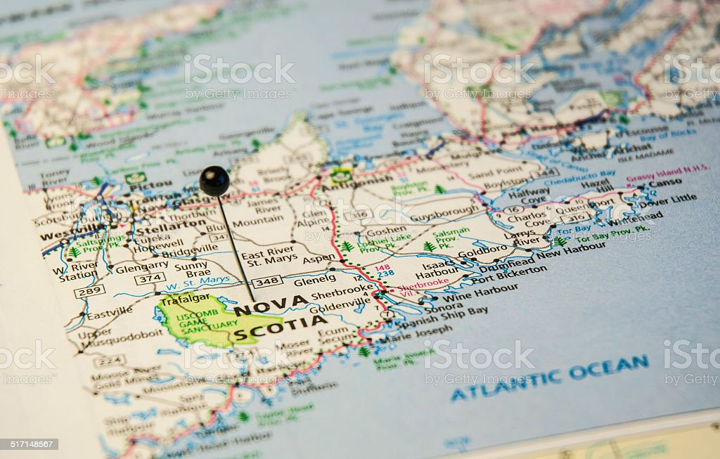 Nova Scotia Map Pictures Images and Stock Photos iStock