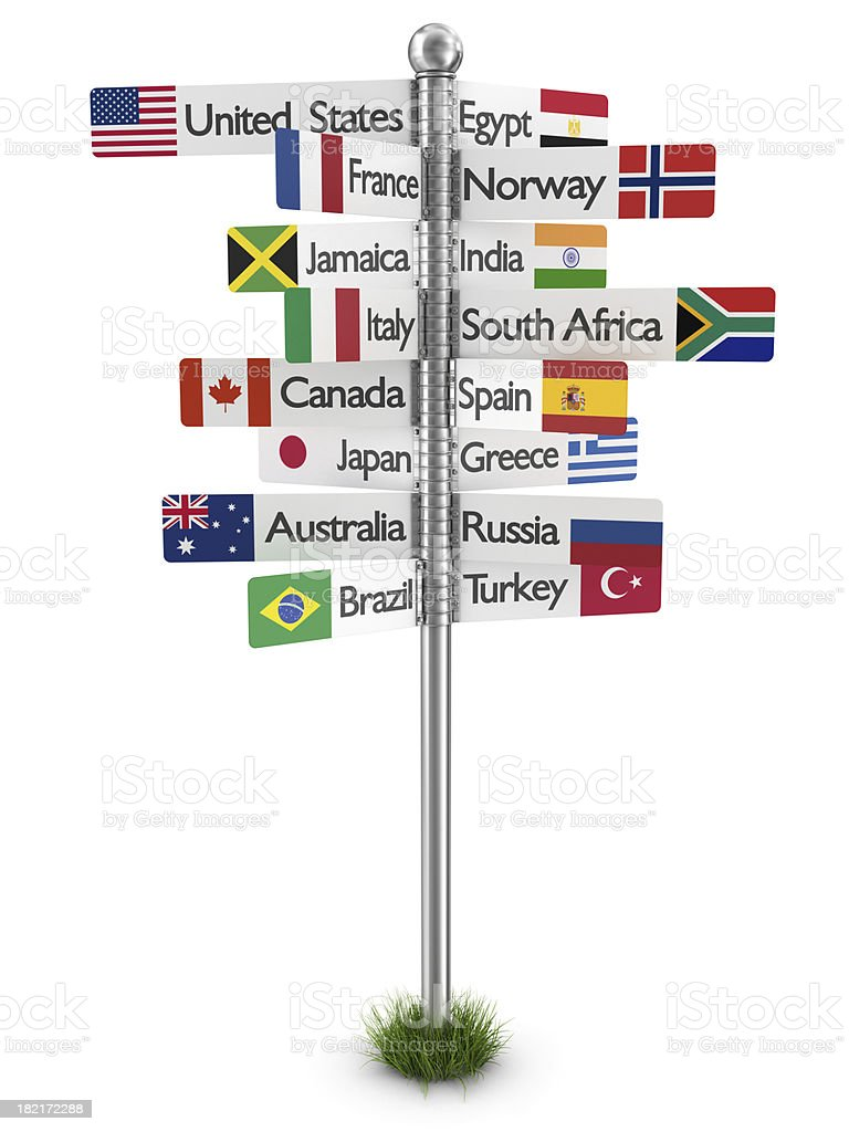 travel signpost royalty-free stock photo