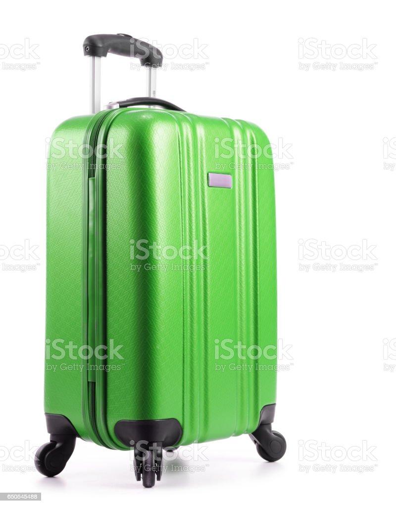 Reise-Koffer isoliert auf weißem Hintergrund – Foto