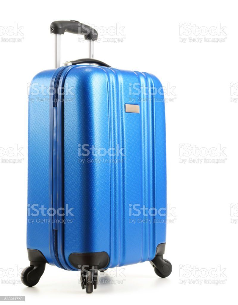 Travel suitcase isolated on white background - foto stock
