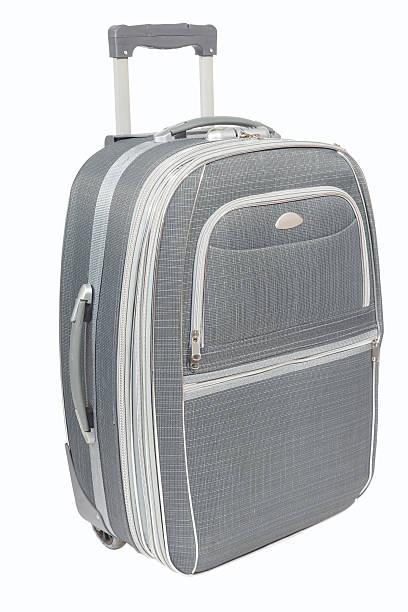 reise-koffer isoliert - trolley kaufen stock-fotos und bilder