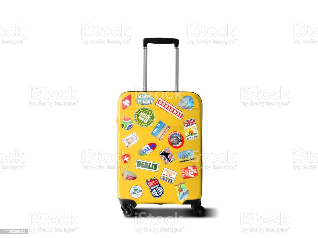 Travel suitcase - Foto stock royalty-free di Adesivo