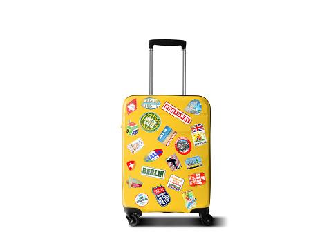 Travel Suitcase - Fotografie stock e altre immagini di Adesivo