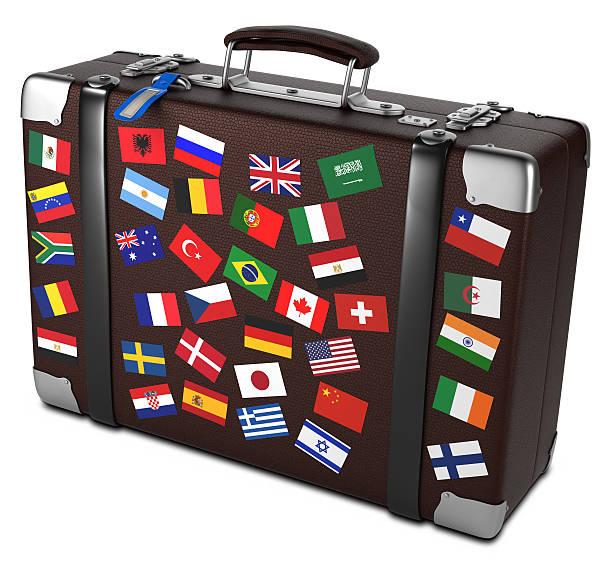 Travel suitcase stock photo