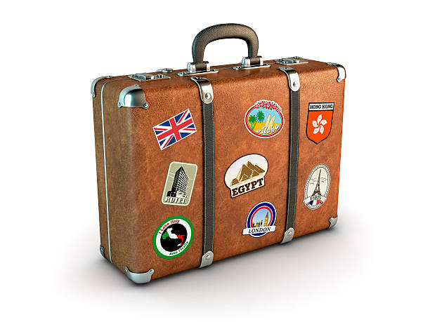 travel suitcase - luggage stock photos and pictures