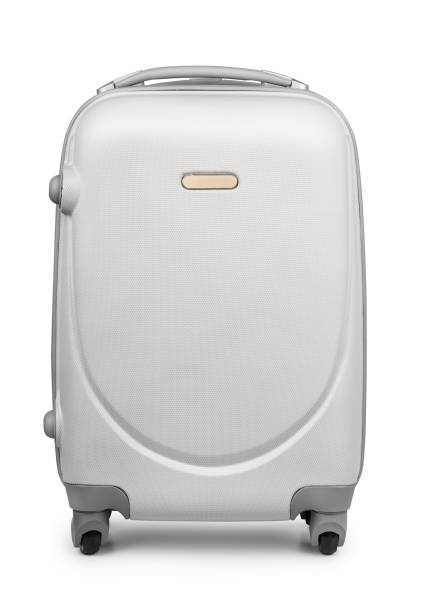 Travel suitcase Plastic travel suitcase isolated on white carry on luggage stock pictures, royalty-free photos & images