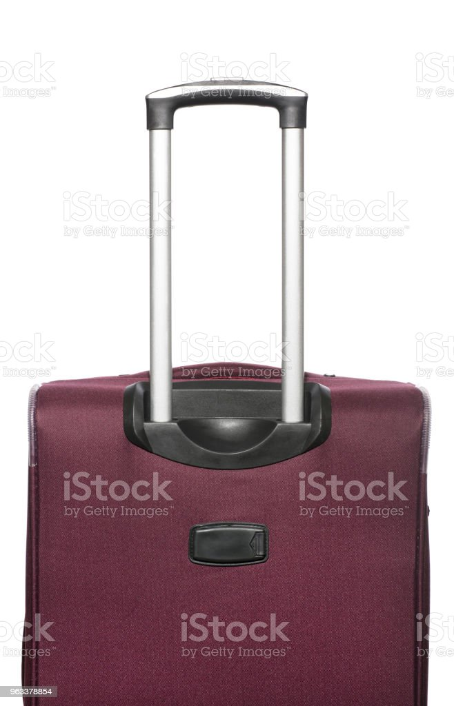 Travel suitcase with pull-out handle - Zbiór zdjęć royalty-free (Bagaż)