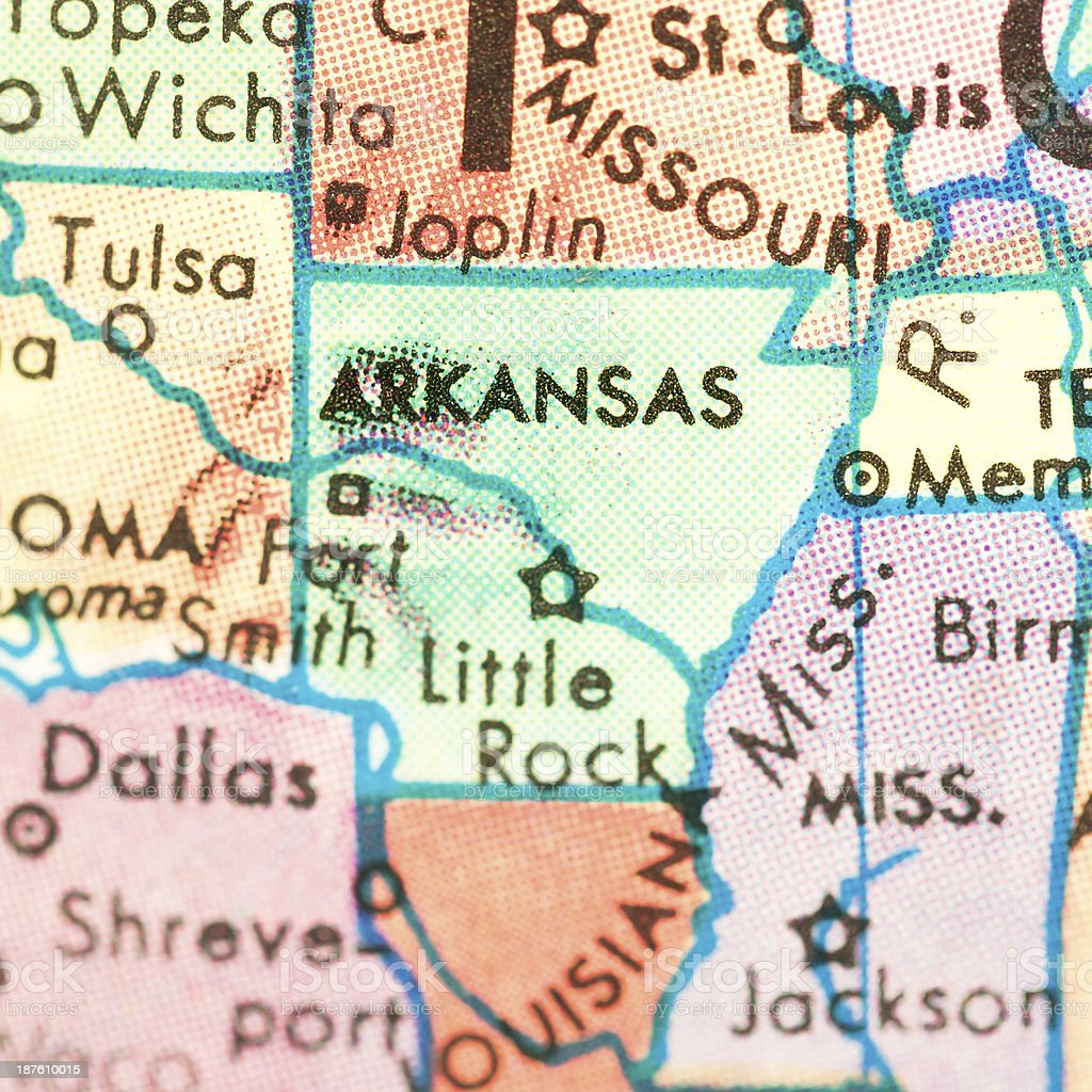 Travel the Globe Series - Arkansas stock photo
