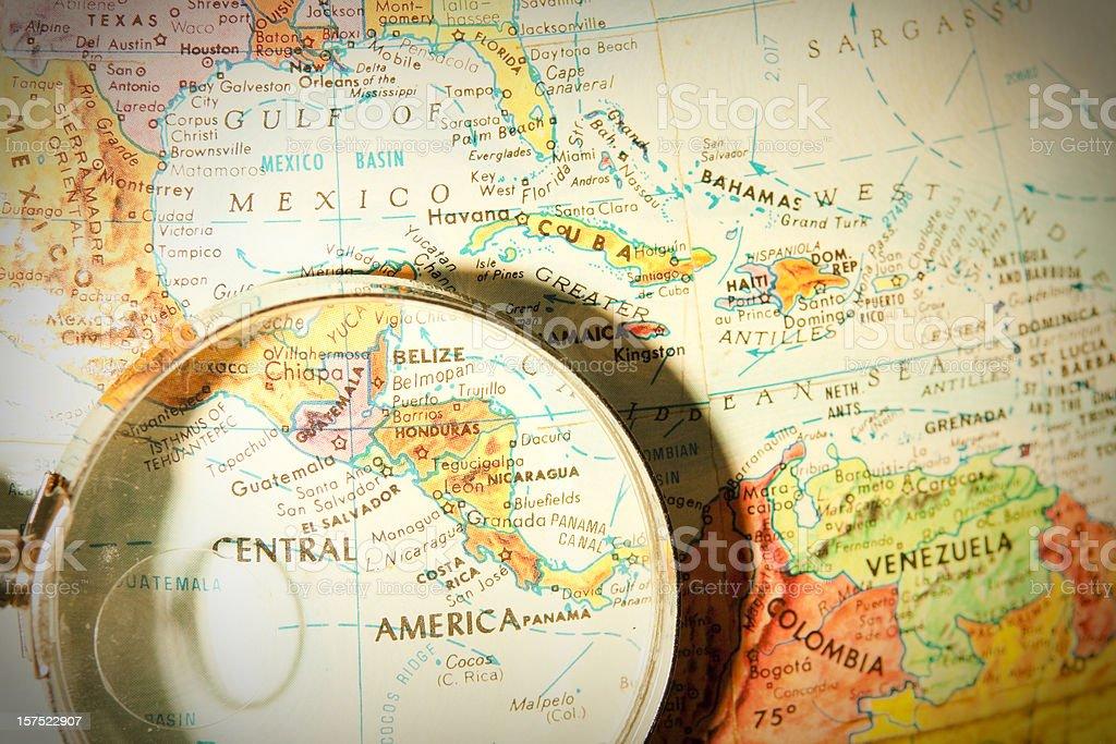 Viaje o mundo série-América Central - foto de acervo